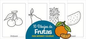 10 Dibujos de frutas para imprimir y colorear