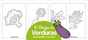 10 Dibujos de verduras para imprimir y colorear