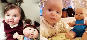 12 niños sorprendentemente iguales a sus muñecos