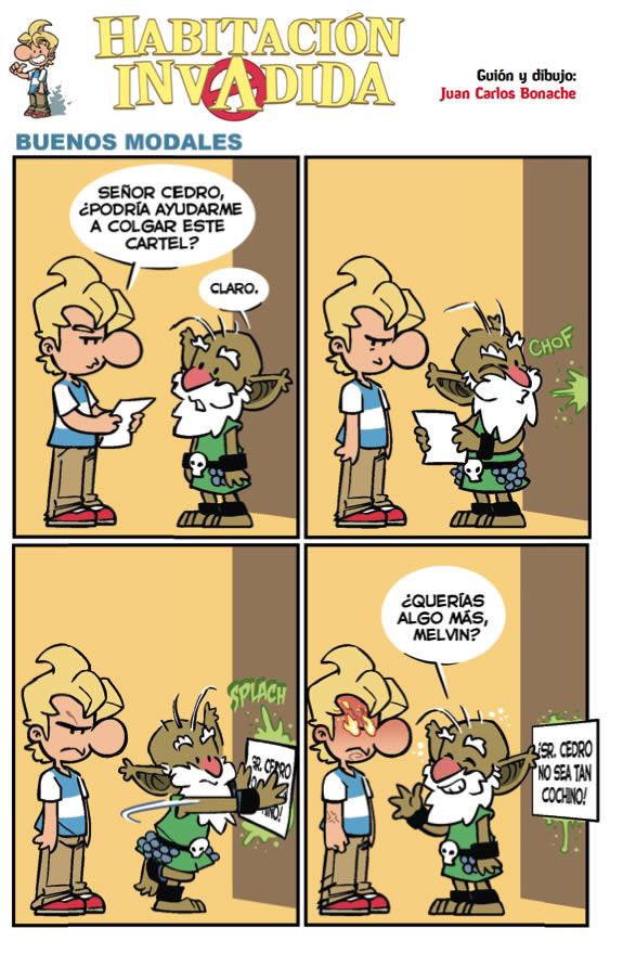 C�mic: Habitaci�n Invadida - Buenos modales - Dibujos.net