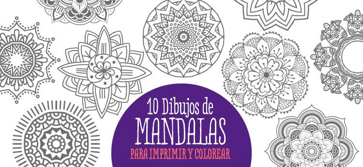 Dibujos Para Imprimir Y Colorear Mandalas: 10 Dibujos De Mandalas Para Imprimir Y Colorear