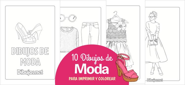 10 Dibujos de moda para impirmir y colorear - Dibujos.net