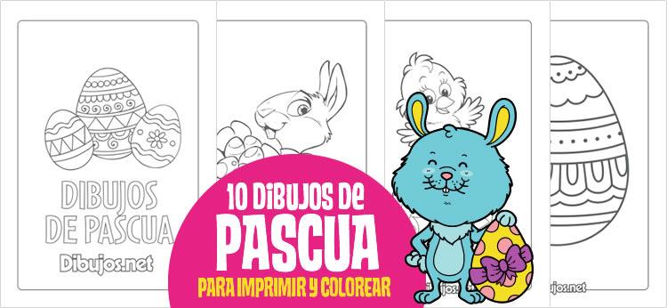 10 Dibujos de Pascua para imprimir y colorear - Dibujos.net