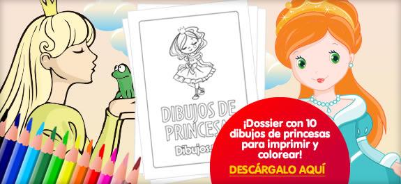 ¡10 Dibujos de princesas para descargar, imprimir y colorear!