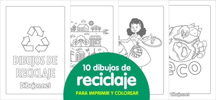 10 Dibujos de reciclaje para imprimir y colorear