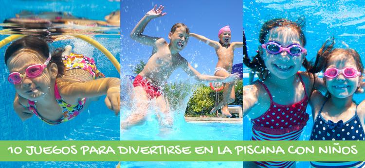 10 juegos para divertirse en la piscina con ni os for Albercas de plastico para ninos