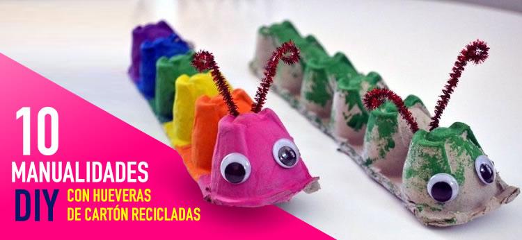 10 Manualidades DIY con Hueveras de cartn recicladas Dibujosnet