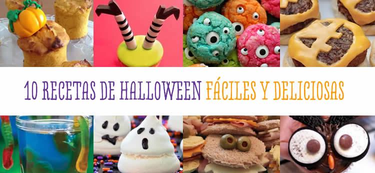 10 Recetas de Halloween fáciles y deliciosas