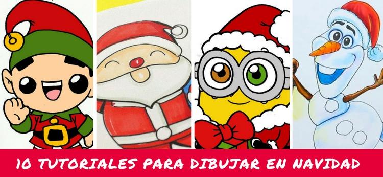 10 tutoriales para dibujar en Navidad