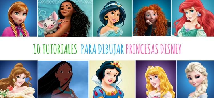 10 tutoriales para dibujar Princesas Disney