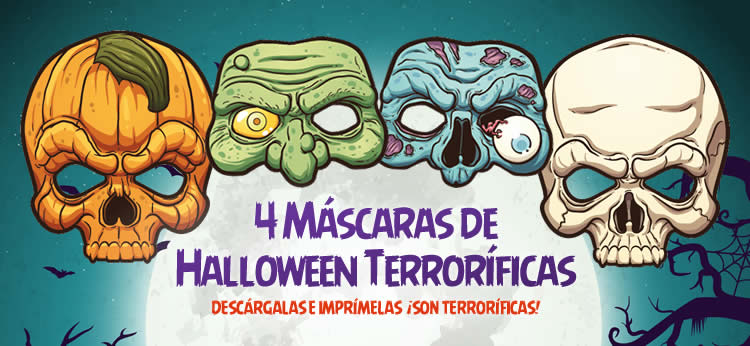 4 Máscaras de Halloween terroríficas para descargar