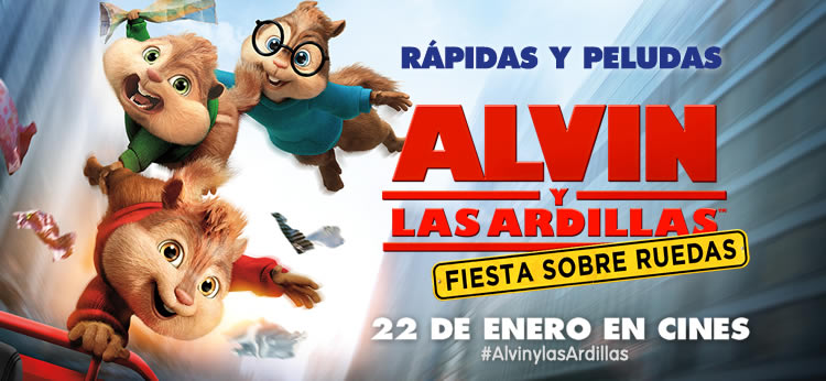 'Alvin y las ardillas: Fiesta sobre ruedas', ¡en cines el 22 de enero!