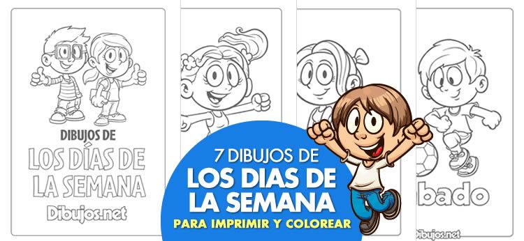 Aprende los días de la semana con el nuevo descargable para imprimir y colorear de Dibujos.net
