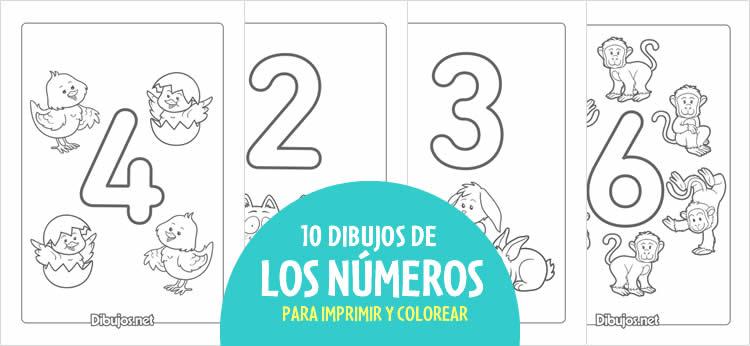 Aprende los números del 1 al 10 con estos dibujos para imprimir y ...