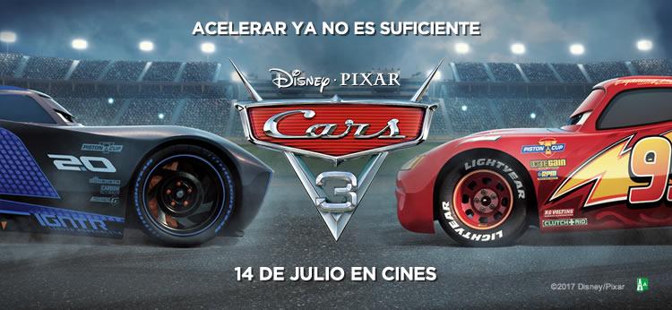 'Cars 3' lo último de Disney-Pixar calienta motores para su estreno el próximo 14 de Julio