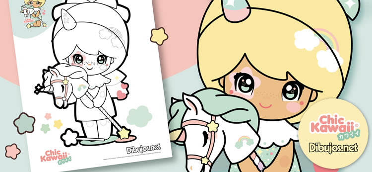 Descarga y colorea los dibujos de Chic Kawaii ¡Son monísimos!