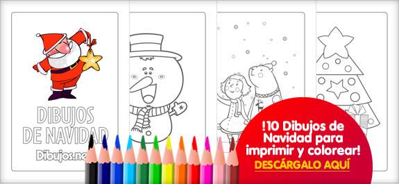Descárgate el libro para colorear de Dibujos de Navidad de Dibujos ...