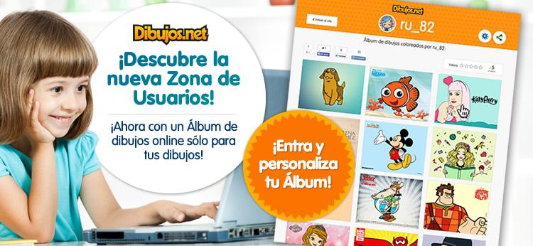 Descubre la nueva Zona de Usuarios en Dibujos.net y crea tu nuevo Álbum personal