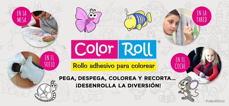 Descubrimos Color-Roll, el rollo adhesivo para colorear favorito de los peques