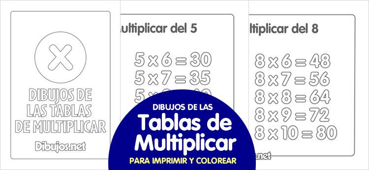 Dibujos de las tablas de multiplicar para imprimir y colorear ...