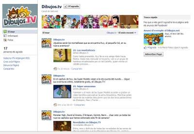 ¡Dibujos.tv ya está en Facebook!