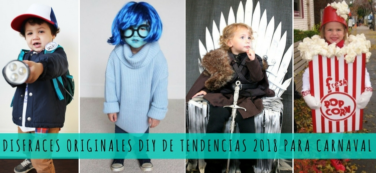 Disfraces originales DIY de tendencias 2018 para Carnaval
