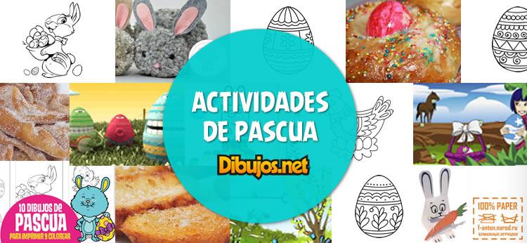 Esta Semana Santa pásalo genial con las actividades de Pascua de Dibujos.net