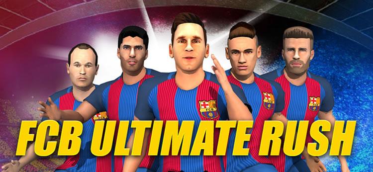 Juega online al nuevo juego FC Barcelona Ultimate Rush en paisdelosjuegos.es