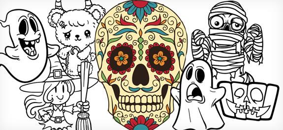 Los 10 mejores dibujos de Halloween para colorear