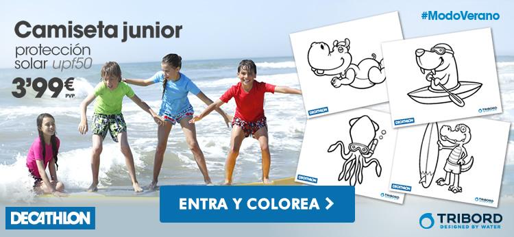 Nueva colección de dibujos para colorear de Decathlon en Dibujos.net