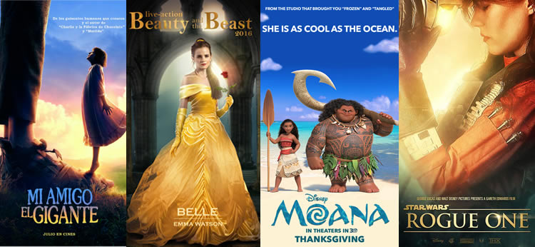Nuevas películas Disney para 2016 y 2017