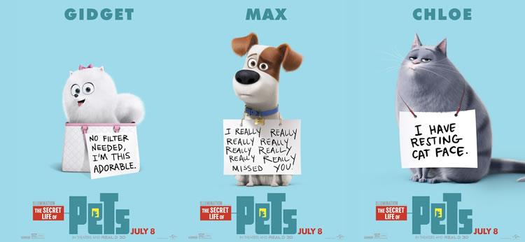 Te presentamos a los protagonistas de Mascotas, la nueva película de animación de Universal Pictures