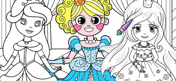 Top 10 mejores dibujos de Princesas para colorear