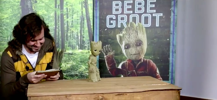 Vídeo: Bebé Groot visita España para el estreno de Guardianes de la Galaxia 2