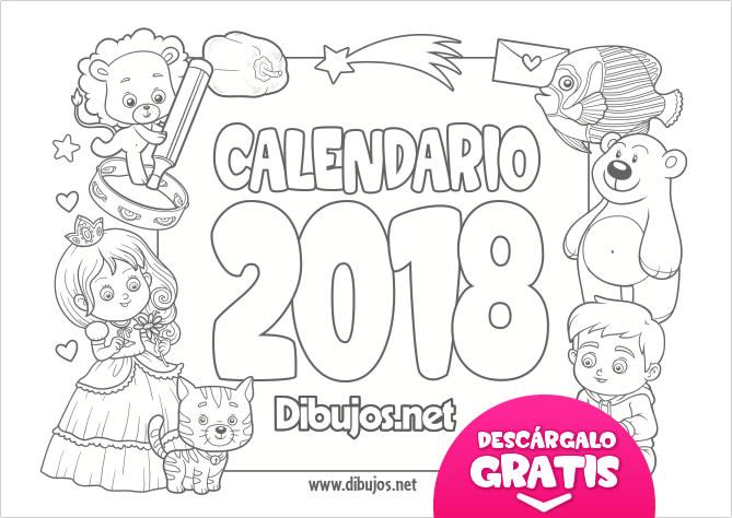 Dibujos De Ojos Infantiles Para Colorear: Calendario Infantil 2018 Para Imprimir Y Colorear