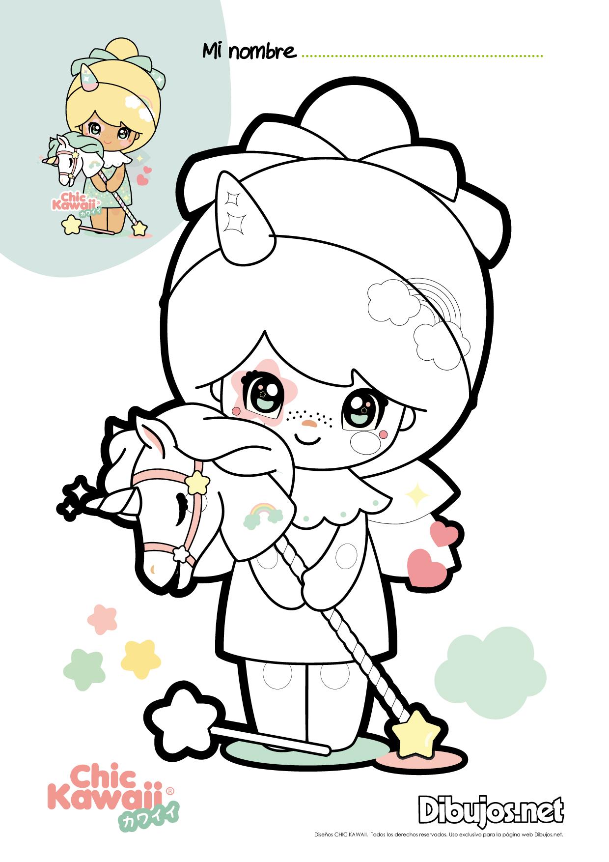 Descarga y colorea los dibujos de Chic Kawaii ¡Son ...