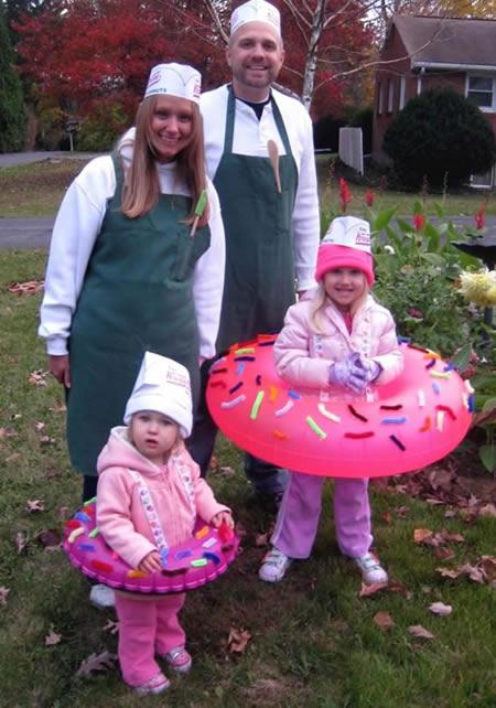 disfraz donuts y pasteleros