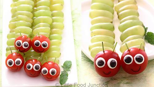 Pinchos gusano de uvas