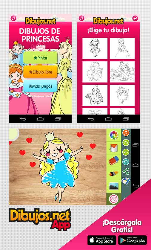 App dibujos de Princesas para colorear