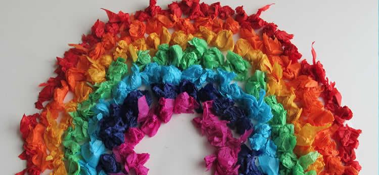 Aprende a colorear con bolitas de papel de seda