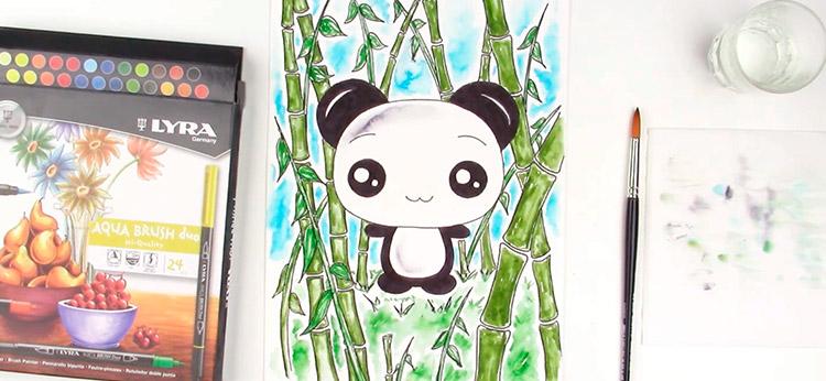 Cómo dibujar un Panda estilo Kawaii