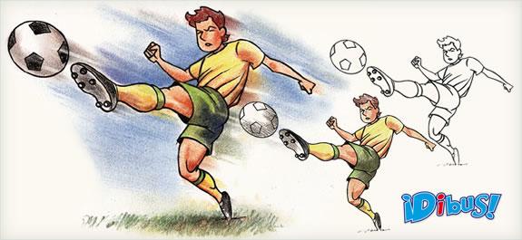 Dibuja un futbolista con carbothello