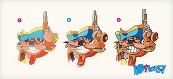 Dibuja un malvado pirata con rotuladores
