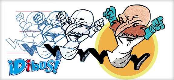 Dibujar al profesor Locus de la revista ¡Dibus! es así de fácil