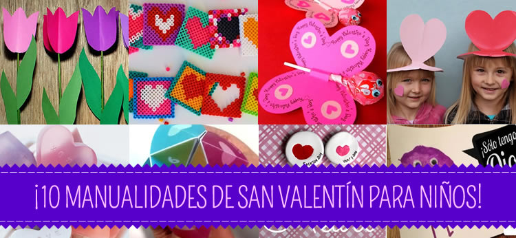 10 manualidades de San Valentín perfectas para niños
