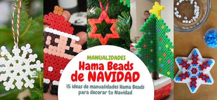 Ideas De Dibujos Para Navidad.Manualidad 15 Ideas De Manualidades De Navidad Con Hama Beads