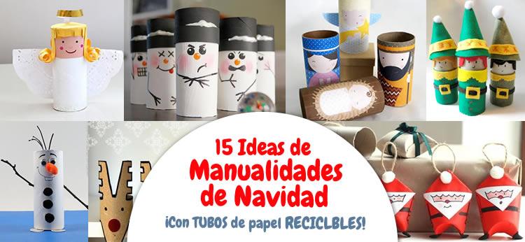 15 Manualidades de Navidad con rollos de papel perfectas para hacer con niños