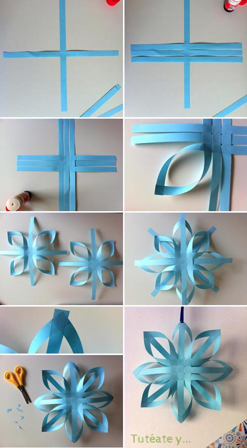Manualidad estrellas de navidad de papel diy - Manualidades de navidad paso a paso ...