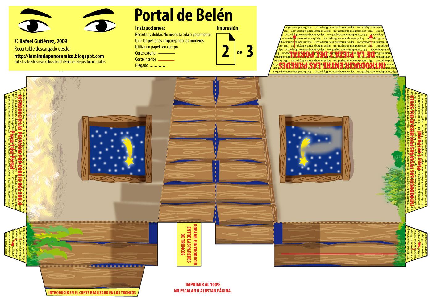 Manualidad monta tu propio bel n de papel con este genial - Portal de belen pinypon ...