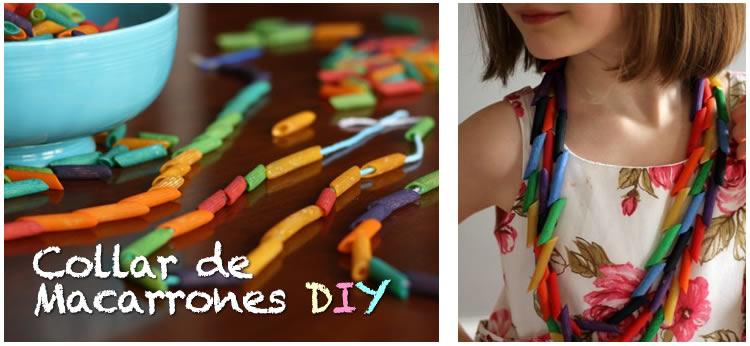 Cómo hacer un collar de de Macarrones de colores DIY